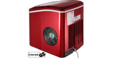 maquina de hielo domestica roja